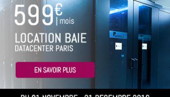 Protégé: Location baie datacenter complète pour 599€/mois